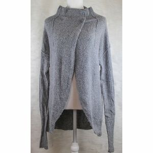 Free People Super Soft Tunic Style Gray Sweater